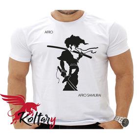 Camisa Branca Polyéster Afro Samurai