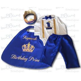Set Traje Para Fiesta Smash Cake Principe Corona Pantalon