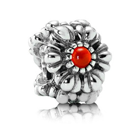 Dije Pandora Original Bloom Piedra Granate!