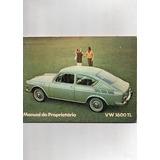 Livro Manual Do Proprietário Vw 1600 Tl Volkswagen