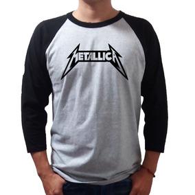 Metallica Playera Rock Raglan -envio Gratis