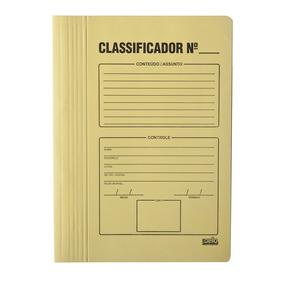Pasta Classificadora P/documentos C/ Impressao Amarelo