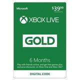Codigo Membresia Xbox Live Gold 6 Meses Multi-region One