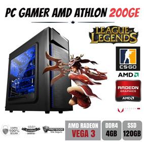 Pc Gamer Amd Athlon 200ge 4gb Ddr4 Vega 3 Apu Ssd120gb