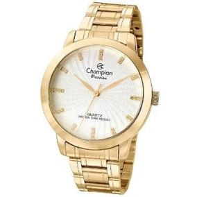 b17473355aa Promoção Relógio Feminino Champion Dourado Cn29276h - Relógios De ...