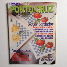 Revista Fácil Fácil Ponto De Cruz Bordados Frutos Nº423