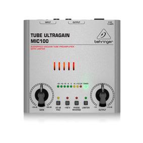 Pré Amplificador Valvulado Behringer Tube Ultragain Mic100