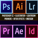 Adobe© Premiere Photoshop Lightroom Illustrat +72mil Brindes