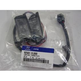 Kit 2 Lanterna De Placa + Fiação Hyundai I30 09-12 Original