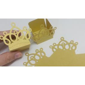 12 Forminhas Tema Realeza Dourado