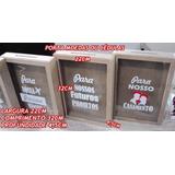 Quadro Rolhas Tampinhas Ou Cofre Em Mdf 32x22 Vidro+adesivo