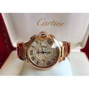 Cartier Ballon Blue Chronograph Xl Rose Gold 2015. Completo!