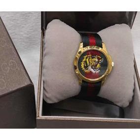 Relógio Gucci Tiger Aro Dourado Novo Original