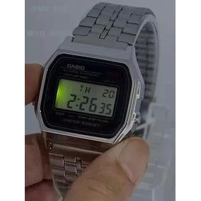 e4370408294 Relogio Casio A159 Unisex Retrô Vintage Prata A159 - Relógios no ...