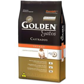 Ração Golden Gatos Adultos Castrados Salmão 10kg