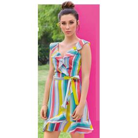 Vestido Multicolor C/olan Cklass 300-00