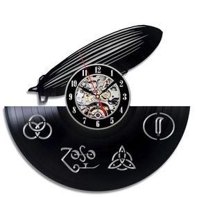 Led Zeppelin Vinyl Wall Clock Art Gift Room Modern Home Rec