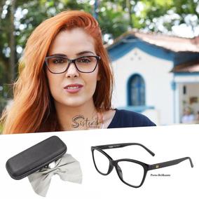 baece2bf3a08d Armacao Oculos Feminino Gatinho - Óculos Preto no Mercado Livre Brasil