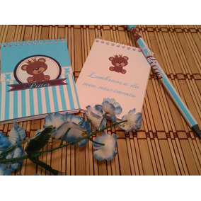 Lembrancinha De Maternidade Bloquinho Com Lápis - 40 Kits