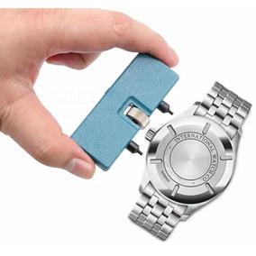 Kit Abrir Relógio (1 Retangular Azul1+tira Gomo Da Pulseira)