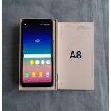 Samsung Galaxy A8 (2018) Negro En Caja Liberado Estetica 9.5