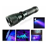 Lanterna Tática Uv Ultra Violeta Luz Negra Led T6 Ws 977