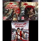 Dead Island + Dead Island Riptide + Escape Dead Island ~ Ps3