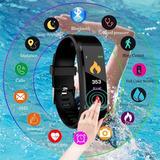 Smartband 3 Id-115 Plus Português Preta Ou Azul Mede Pressão