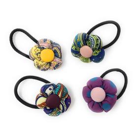 Liga, Ligas Para El Cabello Diseño Flores Unica Autentica