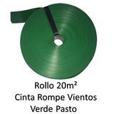 Cinta Rompe Viento Verde Pasto P Malla Ciclonica 20m2 Vp20