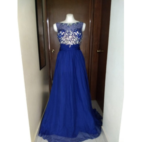 de98945db Vestido Mayqueen Talla 40 Azul Rey Fiesta Noche Graduación