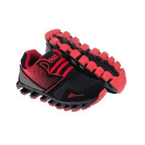 Tenis Niño 18 Al 21 Muy Cómodos Negro Rojo 2019