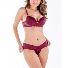 dcd66a61f Conjunto Camila Lingerie Com Frufru - Lingerie no Mercado Livre Brasil