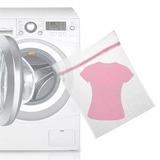 12 Saco Para Lavar Roupas Delicadas Protetor C Zíper 50x40cm