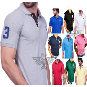 Kit C 5 Camisas Gola Polo 12 Cores Masculina Alto Verão 2019 2725c85a126cf
