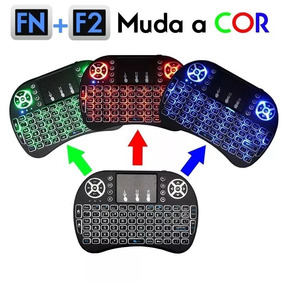 Mini Teclado Iluminado Colorido Sem Fio Menor Preço Brasil