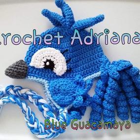 Gorro Guacamaya Blue Crochet