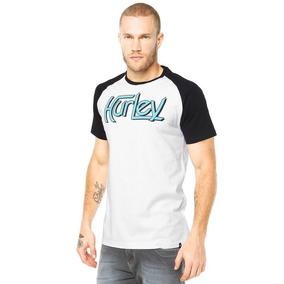 Camiseta Hurley Especial One only Raglan - Branca - M b33ac07dd4a
