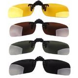 Clip On Lentes Óculos Grau Polarizadas Kit 4 Unds Promoção