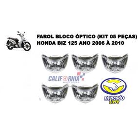 Farol Bloco Óptico Biz 125 06 A 10 S/ Lamp - 05 Pçs Atacado