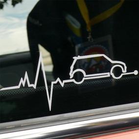 Adesivo Mini Cooper Heartbeat Batida Coração Heart Beat Jcw