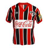 Camisa Retrô São Paulo 1989 Coca Cola Tricolor Blusa Spfc