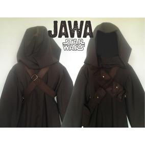 Fantasia Star Wars Adulto Jawa - Kit 1 Túnica + 2 Cintos