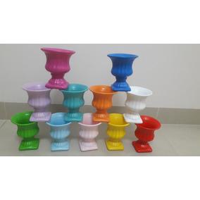 2 Taça / Vaso Grega Em Cerâmica Decoração Promoção