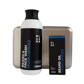 Kit Presente Óleo P/ Barba + Shampoo P/ Barba Musk Spices