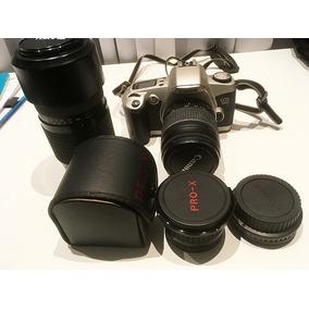 Câmera Fotográfica Canon Eos 500 N + Tele 300 E Macro Pro-x