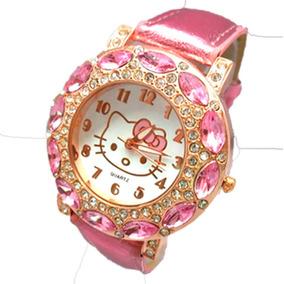 Relógio Infantil Hello Kitty Luxo Feminino Frete Grátis
