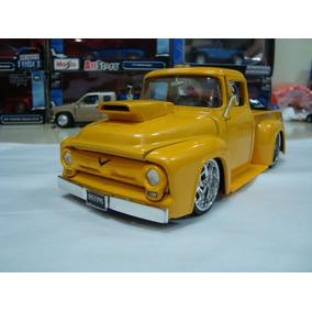 Miniatura Pickup Ford F100 1956 1/24 Jada Na Caixa #j16