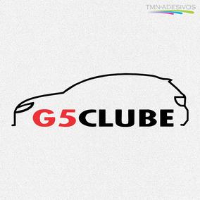 Kit 3x Adesivo Clube Do Gol G5 5ª Geração Carro 15cm A172