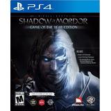 Juego Shadow Of Mordor Game Of The Year Ps4 Usado Original